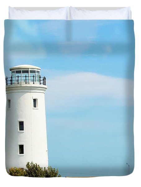 Old Higher Lighthouse Duvet Cover