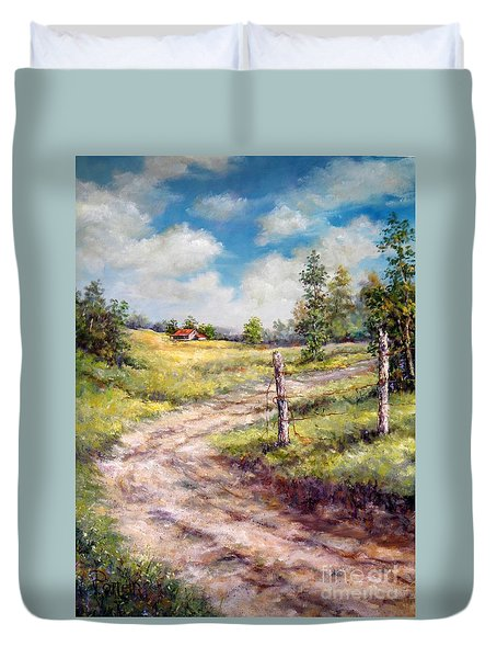 Old Home Place Duvet Cover
