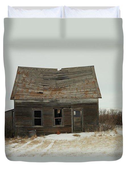 Old Homestead North Dakota Duvet Cover by Jeff Swan