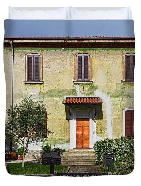 Old House In Crespi D'adda Duvet Cover