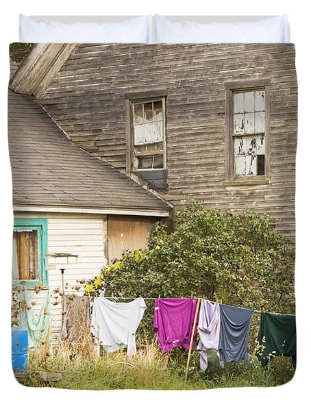 Old House With Laundry Duvet Cover