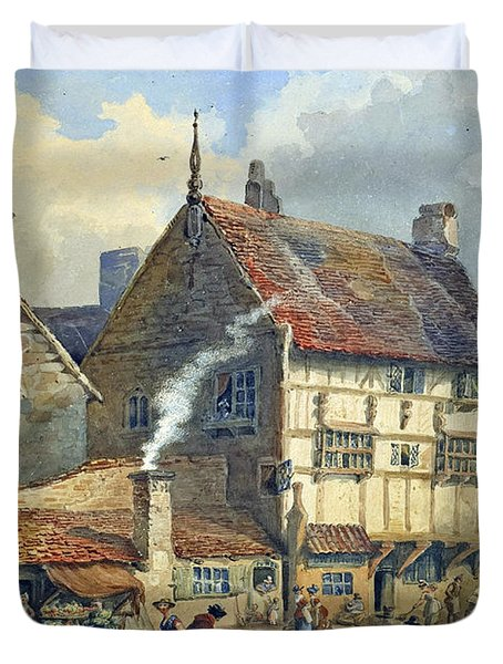 Old Houses And St Olaves Church Duvet Cover by George Shepherd