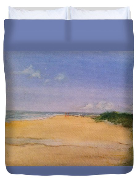 Old Hunstanton Beach Duvet Cover