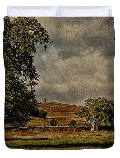 Old John Bradgate Park Leicestershire Duvet Cover by John Edwards