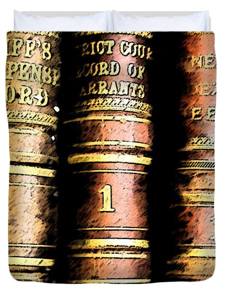 Old Ledgers Duvet Cover by Lovina Wright