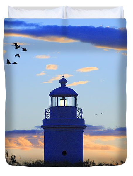 Old Lighthouse Duvet Cover by Bernardo Galmarini
