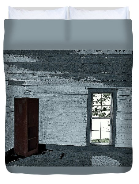 Old Log House Interior Duvet Cover