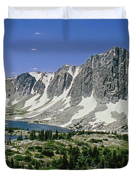 M-09702-old Main Peak, Wy Duvet Cover