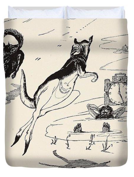 Old Man Kangaroo At Five Duvet Cover by Rudyard Kipling