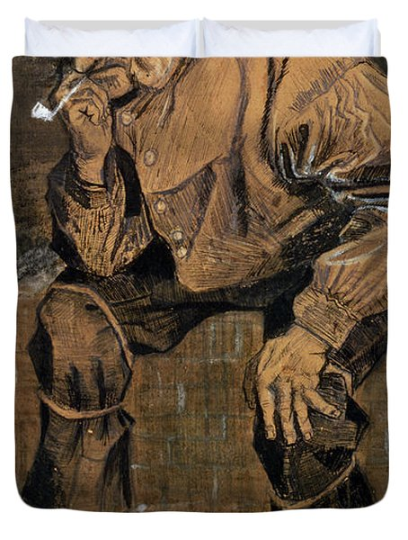 Old Man With A Pipe, 1883 Duvet Cover
