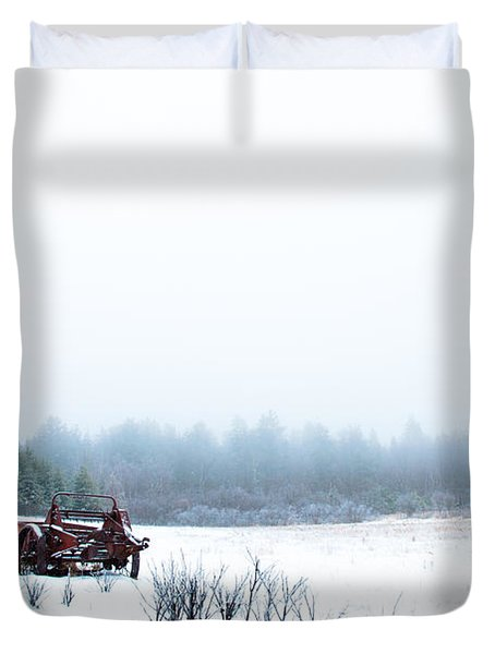 Old Manure Spreader Duvet Cover