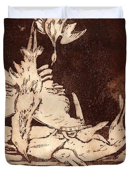 Old Masters Still Life - With Great Bittern Duck Rabbit - Nature Morte - Natura Morta - Still Life Duvet Cover