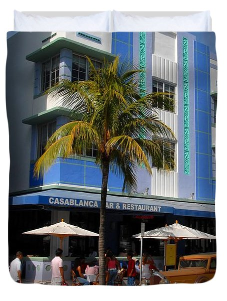 Old Miami Duvet Cover by David Lee Thompson