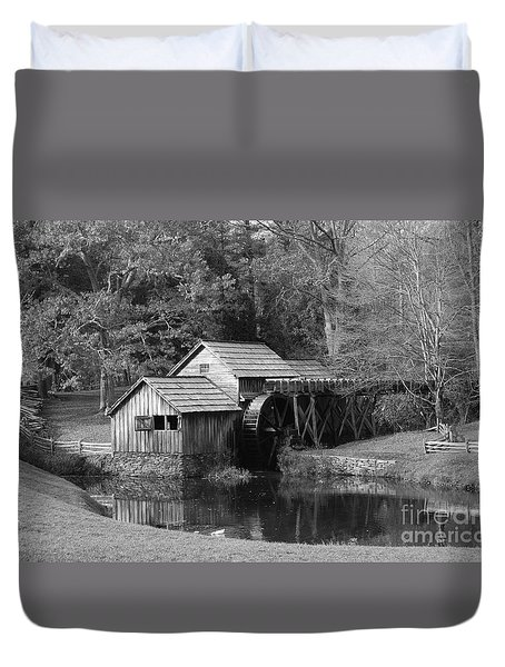 Virginia's Old Mill Duvet Cover by Eric Liller