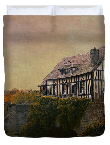 Old Mill On The Broken Bridge At Vernon Duvet Cover