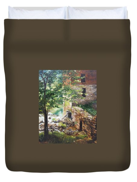 Old Mill Stream I Duvet Cover