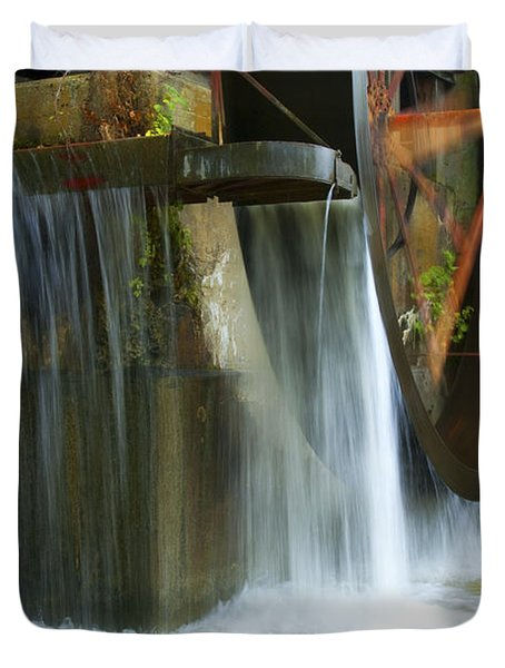 Old Mill Water Wheel Duvet Cover by Paul W Faust -  Impressions of Light
