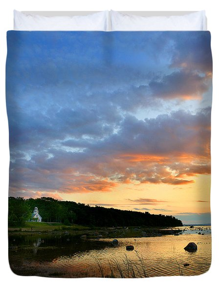 Old Mission Point Duvet Cover