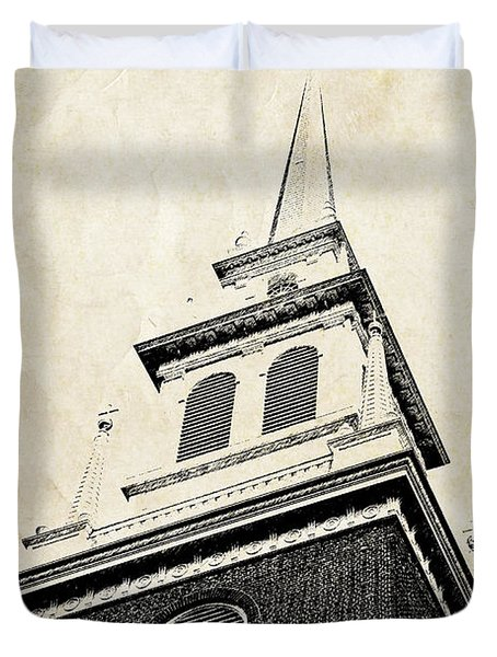 Old North Church In Boston Duvet Cover by Elena Elisseeva
