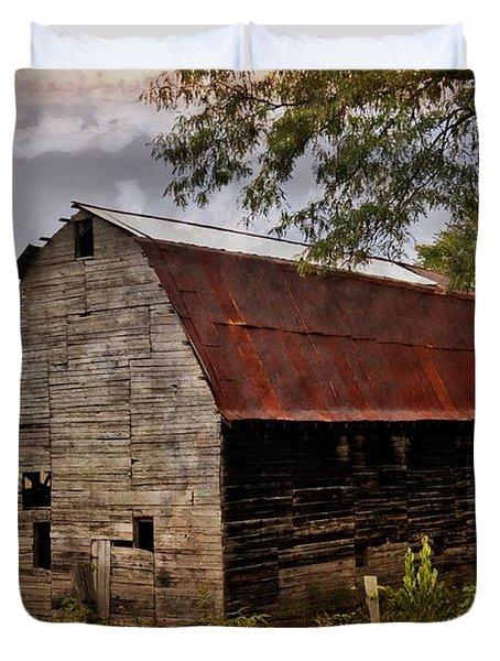 Old Oak Barn Duvet Cover by Marty Koch