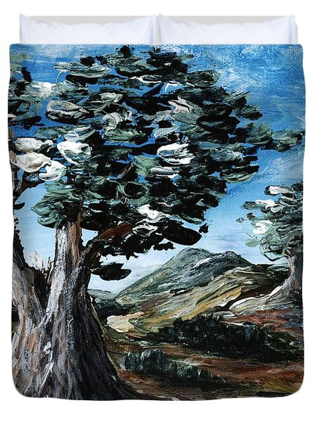 Old Olive Tree Duvet Cover by Anastasiya Malakhova