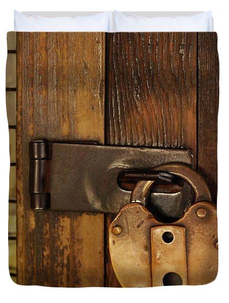Old Padlock Duvet Cover