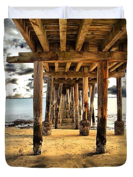 Old Pillar Point Pier Duvet Cover