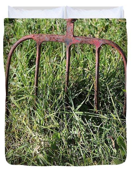 Old Pitch Fork Duvet Cover