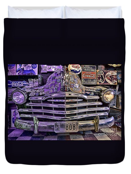 Old Pontiac Duvet Cover by Jason Abando