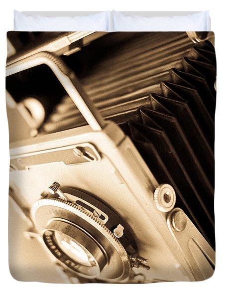 Old Press Camera Duvet Cover