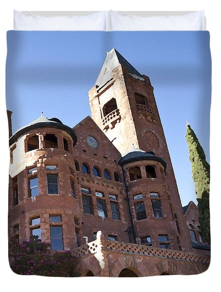 Duvet Cover featuring the photograph Old Preston Castle by David Millenheft