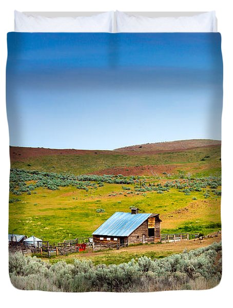 Old Ranch Duvet Cover by Robert Bales