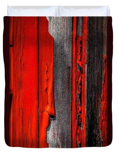 Old Red Barn Four Duvet Cover by Bob Orsillo