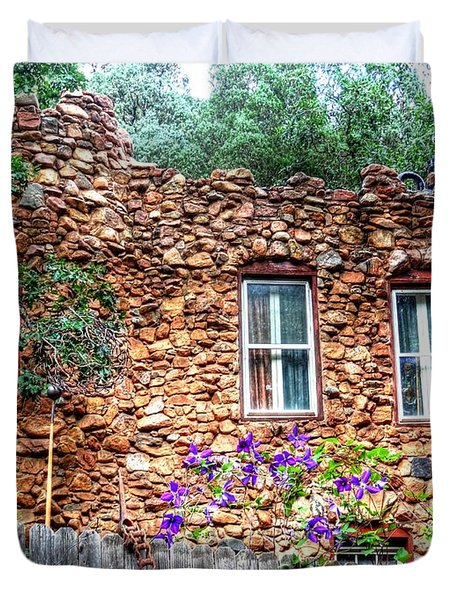 Duvet Cover featuring the photograph Old Rock House In Williams Canyon by Lanita Williams