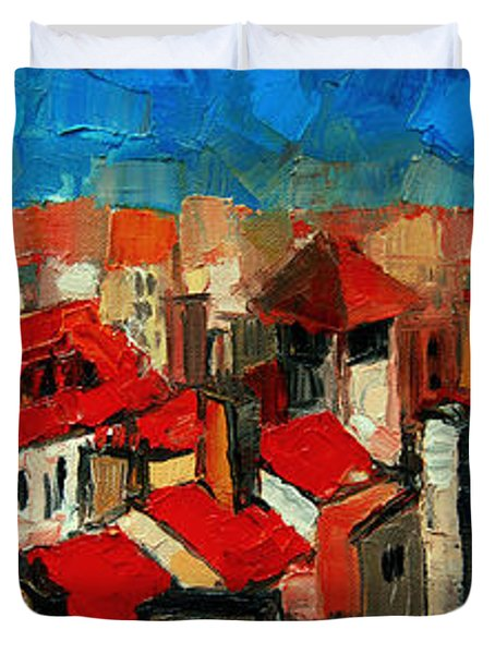 Old Roofs Of Lyon Duvet Cover