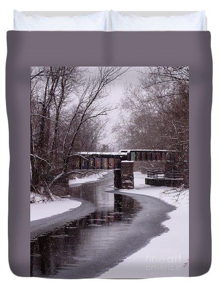 The Nifti Railroad Bridge Duvet Cover