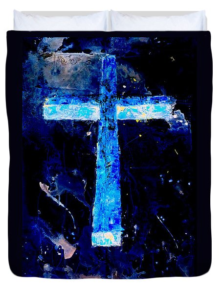 Old Rugged Cross II Duvet Cover