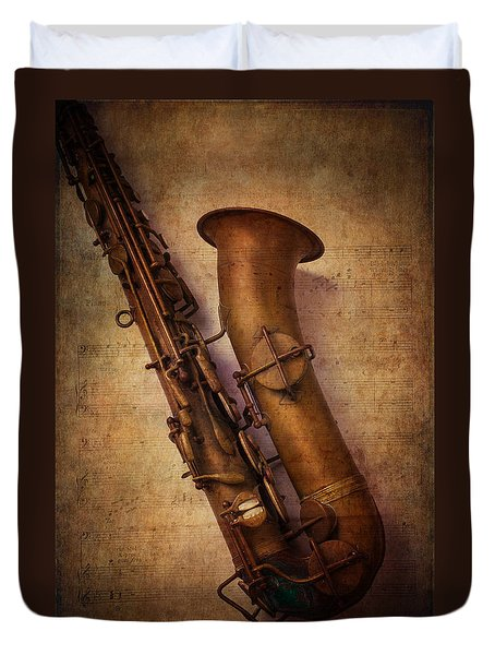 Old Sax Duvet Cover