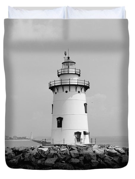 Old Saybrook Connecticut Lighthouse Duvet Cover