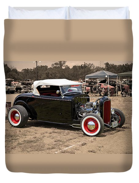 Old School Hot Rod Duvet Cover