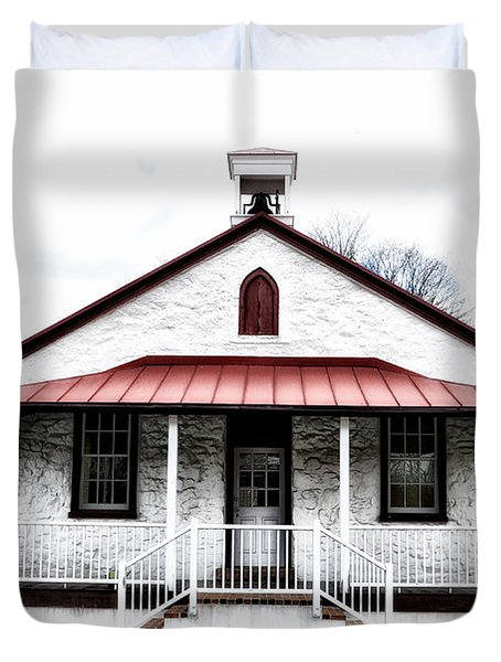 Old Schoolhouse Chester Springs Duvet Cover by Bill Cannon