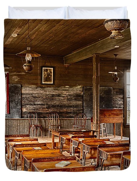 Old Schoolroom Duvet Cover