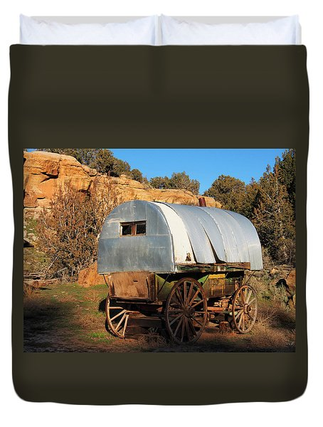 Old Sheepherder's Wagon Duvet Cover