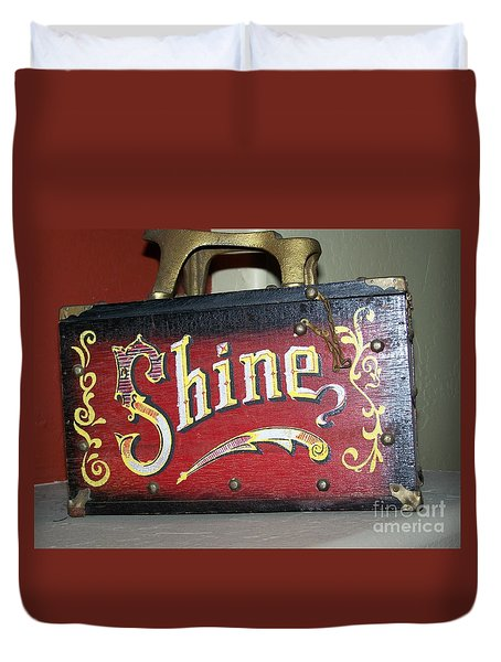 Old Shoe Shine Kit Duvet Cover