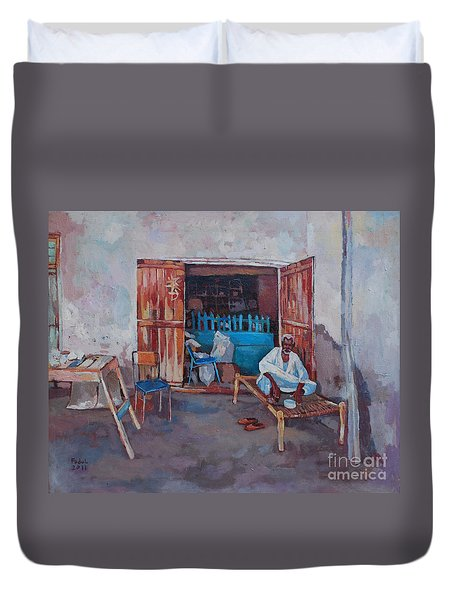 Old Shop Suakin Duvet Cover by Mohamed Fadul