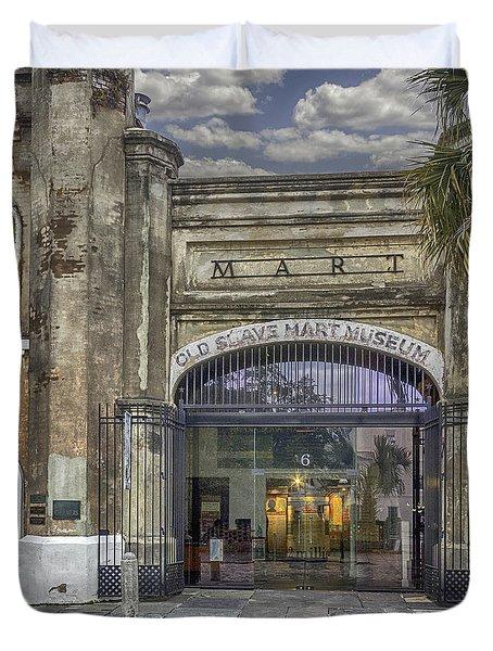 Old Slave Mart Museum Duvet Cover by Lynn Palmer
