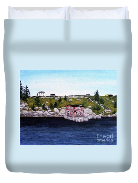 Old Stage And Storeloft Duvet Cover by Barbara Griffin