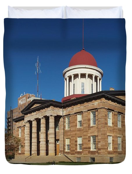 Old State Capital Springfield Illinois Duvet Cover