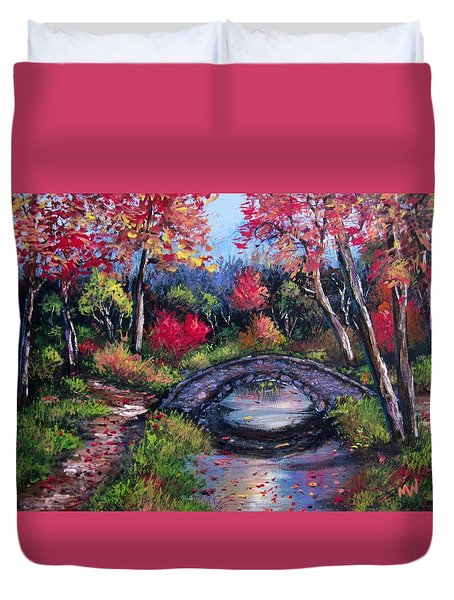 Old Stone Bridge Duvet Cover by Megan Walsh
