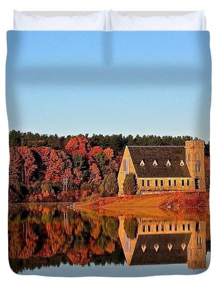 Old Stone Church Duvet Cover